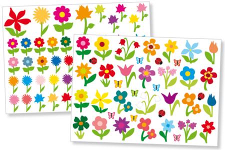 Gommettes fleurs - Set de 87 - Gommettes fantaisie – 10doigts.fr