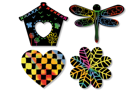 Gommettes-stickers à gratter - Cartes à gratter – 10doigts.fr