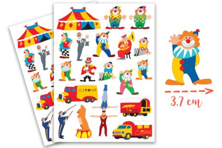 Gommettes Cirque - 2 planches - Gommettes Anniversaire – 10doigts.fr