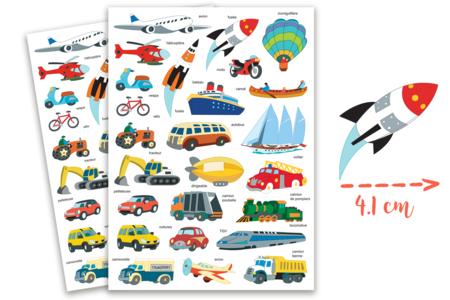 Gommettes transports - 2 planches - Gommettes Transports et Métiers – 10doigts.fr