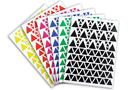 Gommettes Triangles - 18 planches - Gommettes – 10doigts.fr
