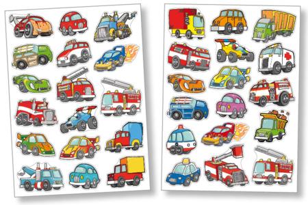 Gommettes voitures et camions - Gommettes fantaisie – 10doigts.fr