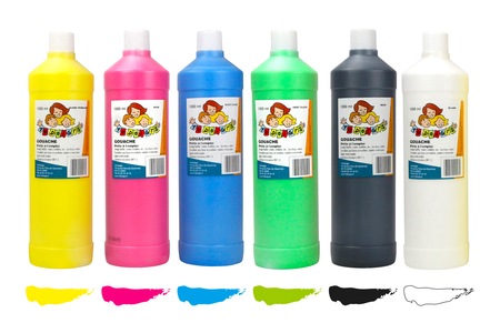 Gouaches 10 DOIGTS Ultra lavable - 1 Litre - Gouaches 10 DOIGTS – 10doigts.fr