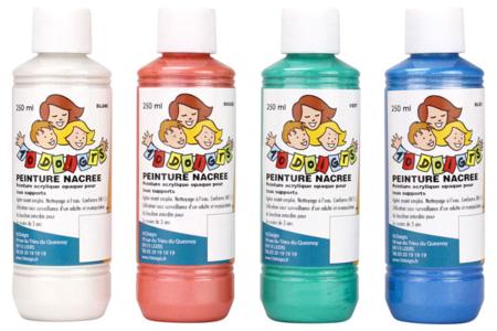 Gouache nacrée 10 DOIGTS - 4 flacons de 250 ml - Peinture Gouache 10 DOIGTS – 10doigts.fr