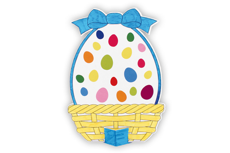Grand oeuf de Pâques à colorier + gommettes - Pâques – 10doigts.fr