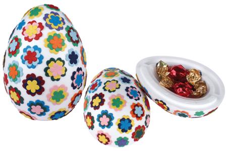 Gros oeuf polystyrène en 2 parties emboîtables - Pâques – 10doigts.fr