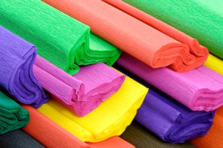 Feuilles de papier crépon, 10 couleurs assorties - Papiers de crépon – 10doigts.fr