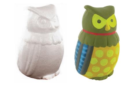Hibou en polystyrène 15 cm - Animaux – 10doigts.fr