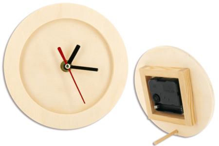 Horloge de bureau, en bois - Fête des Pères – 10doigts.fr