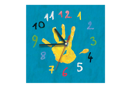 Horloge carrée en bois - Horloges – 10doigts.fr