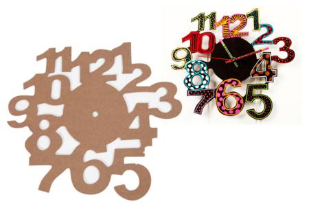 Cadran horloge bois MDF - Horloges – 10doigts.fr
