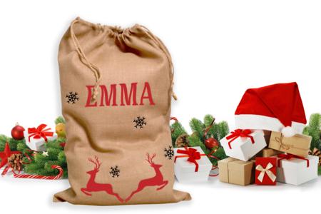 Sac hotte du père Noël à customiser - Papiers cadeaux – 10doigts.fr