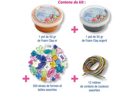 Kit Colliers Médaillons - 12 réalisations - Pâtes à modeler qui sèchent à l'air – 10doigts.fr