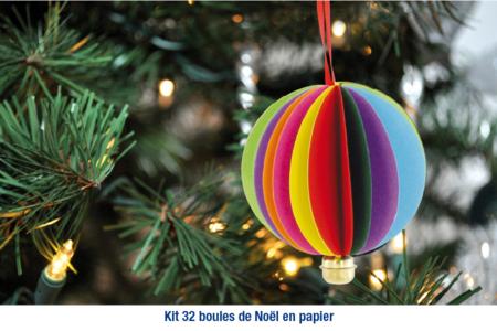 Boule de noël en papier à fabriquer - Origami, Quilling, Kirigami – 10doigts.fr