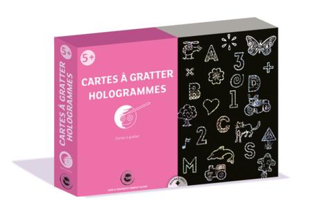 Coffret cartes à gratter Hologrammes - Carte à gratter – 10doigts.fr