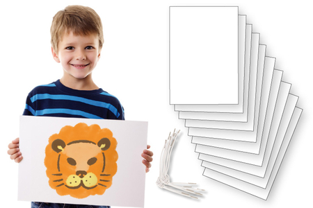 Grandes cartes + élastiques spéciaux - Lot de 10 - Masques – 10doigts.fr