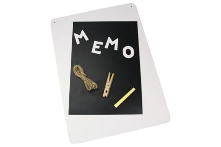 Kit GRAND Mémo en carton blanc - Mémo et magnet – 10doigts.fr