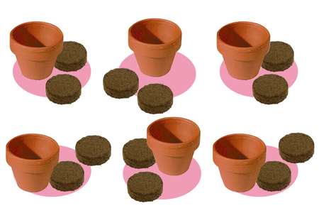 """Kit """"horticulteur"""" - 6 pots - Céramique et Porcelaine – 10doigts.fr"""