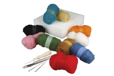 Kit de démarrage pour laine cardée - Laine – 10doigts.fr