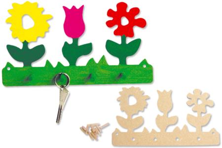 Kit porte-clefs fleurs - Activités enfantines – 10doigts.fr