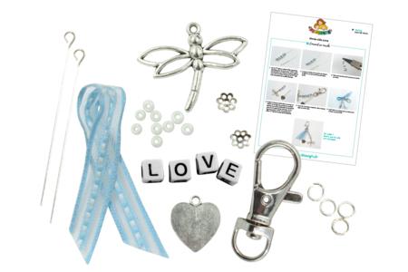 Kit porte-clés LOVE - Bijoux, bracelets, colliers – 10doigts.fr
