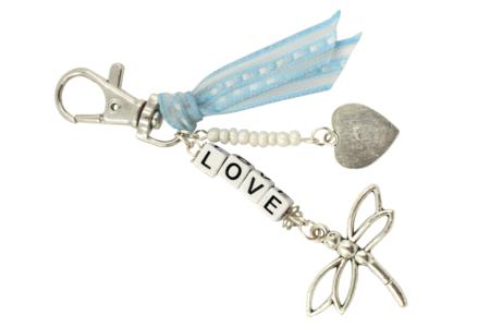 """Porte-clés """"LOVE"""" - Kit pour 1 porte-clés - Bijoux, bracelets, colliers – 10doigts.fr"""