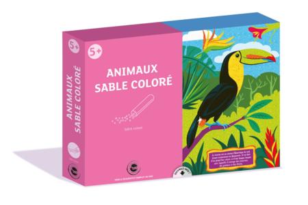 Coffret Animaux - Activité Sables colorés - Sables colorés – 10doigts.fr