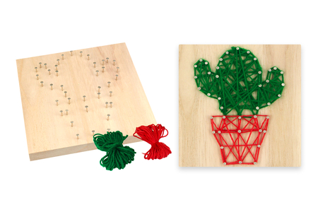 String Art - Kit Cactus - String Art – 10doigts.fr