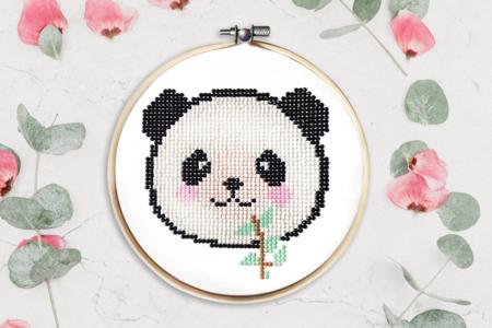 "Kit tableau ""Peinture Diamant"" panda - Peinture Diamant – 10doigts.fr"