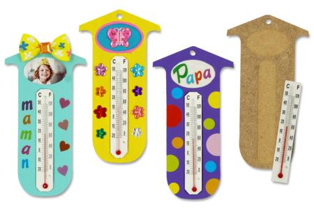 Kit thermomètre (pour 12 réalisations) - Kits activités fête des mères – 10doigts.fr