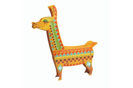Coffret Lama - Lampe à construire - Maquettes en carton – 10doigts.fr