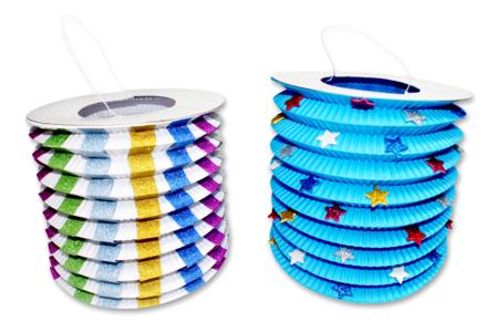 Lampions en papier - Set de 30 - Mardi gras, carnaval – 10doigts.fr