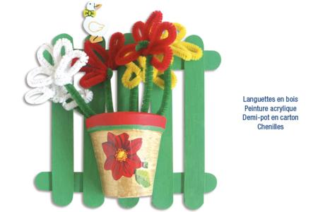 Vase déco printemps - Activités enfantines – 10doigts.fr