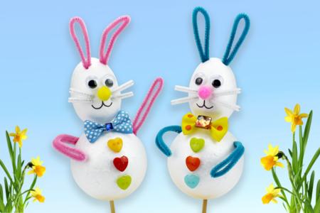 Lapins de Pâques rigolos - Pâques – 10doigts.fr