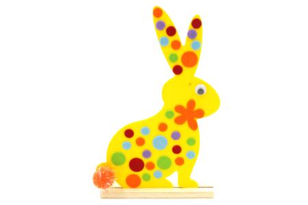 Silhouette lapin ou poule en bois + socle - Supports plats en bois naturel contreplaqué – 10doigts.fr