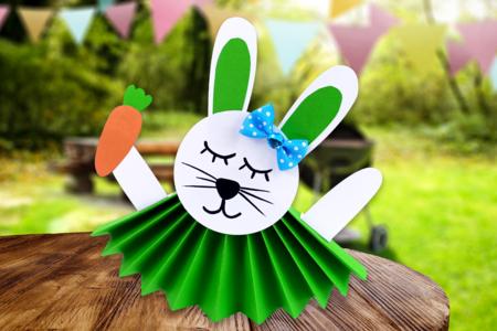 lapin en papier bricolage enfants pâques - Tête à Modeler