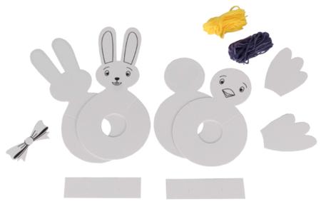 Lapin et poussin en pompons - Kit pour 2 réalisations - Pâques – 10doigts.fr