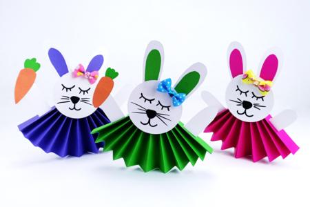 lapins mignons en papier faciles à fabriquer - Tête à Modeler