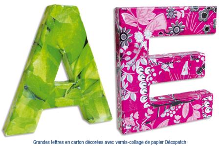 Lettres en carton papier maché - Lettres et Formes – 10doigts.fr