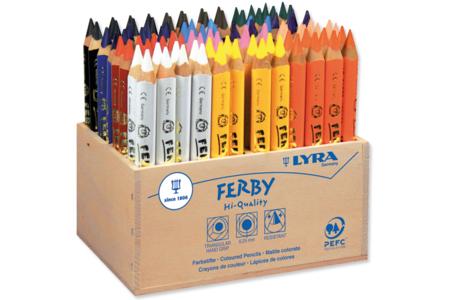 Crayons de couleur Lyra Ferby - Schoolpack de 96 crayons - Crayons de couleurs – 10doigts.fr