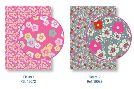 Magic Paper auto-adhésif Fleurs Liberty 1 et fleurs Liberty 2 - Magic Paper – 10doigts.fr