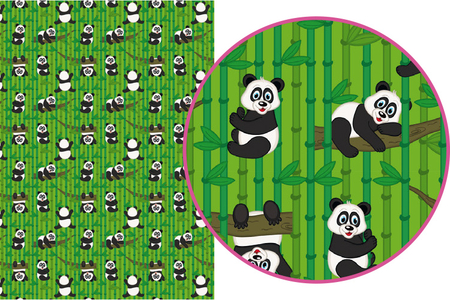 Magic Paper auto-adhésif Pandas - Magic Paper – 10doigts.fr