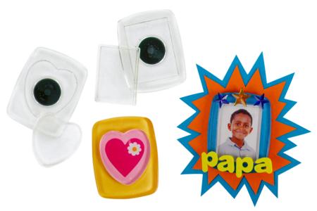 Magnets en plastique transparent - Mémo et magnet – 10doigts.fr