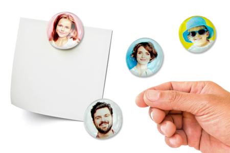 magnet photo galet en verre - Tête à Modeler