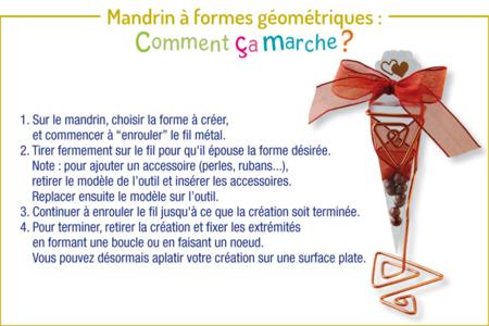 Mandrin pour modelage de fil aluminium - Fils aluminium – 10doigts.fr