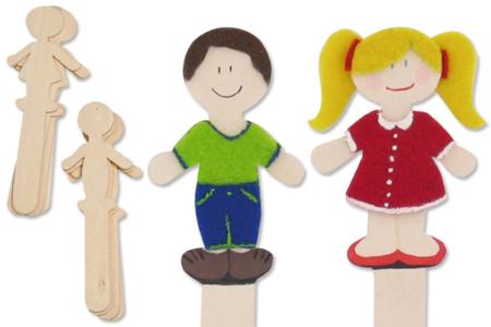 Marque-pages silhouettes, en bois naturel à décorer - Activités enfantines – 10doigts.fr