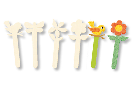 Marque-pages, en bois naturel à décorer - Activités enfantines – 10doigts.fr