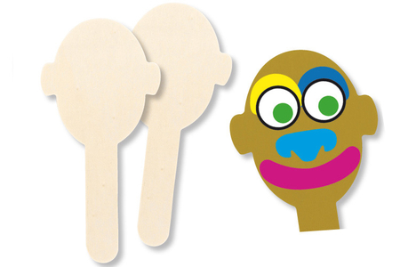 Marque-pages marionnettes, en bois naturel à décorer - Activités enfantines – 10doigts.fr