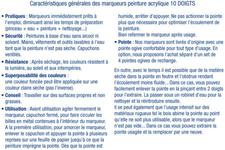 Marqueur contour noir pour verre et tous supports lisses - Peinture Verre et Faïence – 10doigts.fr