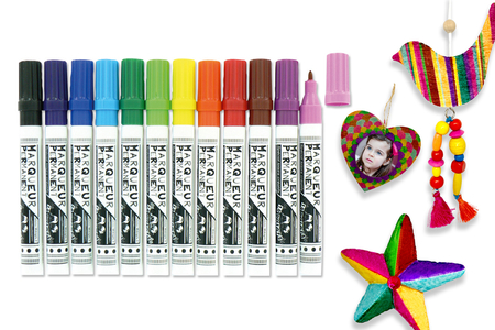 Marqueurs permanents Multi-supports, couleurs assorties - Marqueurs – 10doigts.fr